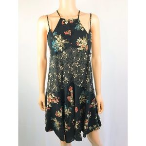 Intimately Free People Slip Dress Strapy Floral XS